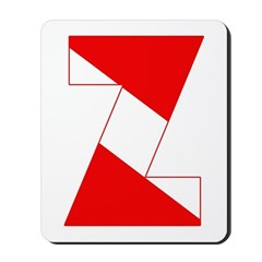 http://i3.cpcache.com/product/189254359/scuba_flag_letter_z_mousepad.jpg?height=240&width=240