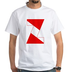http://i3.cpcache.com/product/189254420/scuba_flag_letter_z_shirt.jpg?color=White&height=240&width=240