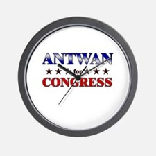 ANTWAN for congress Wall Clock