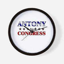 ANTONY for congress Wall Clock