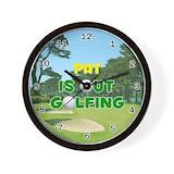Birthday golf pat Basic Clocks