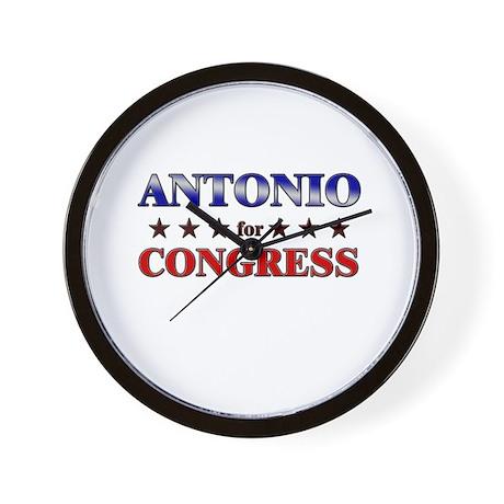 ANTONIO for congress Wall Clock