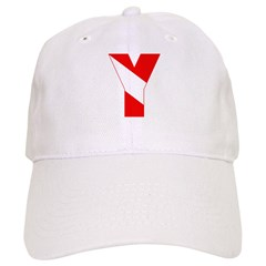 http://i3.cpcache.com/product/189257458/scuba_flag_letter_y_baseball_cap.jpg?color=White&height=240&width=240
