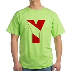 http://i3.cpcache.com/product/189257482/scuba_flag_letter_y_tshirt.jpg?color=Green&height=240&width=240