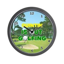 Quintin is Out Golfing - Wall Clock