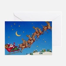 Santa & Reindeer Christmas Greeting Card