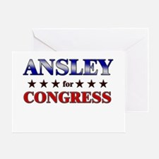 ANSLEY for congress Greeting Card