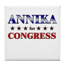 ANNIKA for congress Tile Coaster