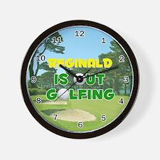 Reginald is Out Golfing - Wall Clock