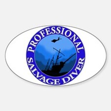 Salvage Diver Oval Decal