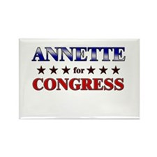 ANNETTE for congress Rectangle Magnet