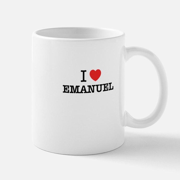 I Love EMANUEL Mugs