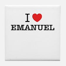 I Love EMANUEL Tile Coaster