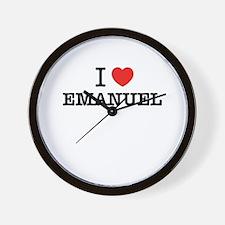 I Love EMANUEL Wall Clock