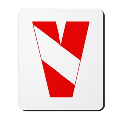http://i3.cpcache.com/product/189263281/scuba_flag_letter_v_mousepad.jpg?height=240&width=240