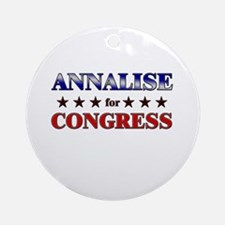 ANNALISE for congress Ornament (Round)