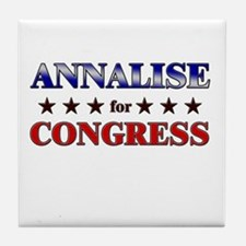 ANNALISE for congress Tile Coaster