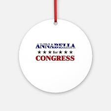 ANNABELLA for congress Ornament (Round)