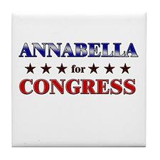 ANNABELLA for congress Tile Coaster