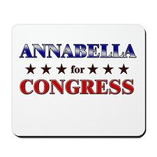 ANNABELLA for congress Mousepad