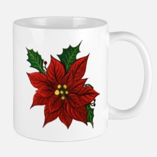 Poinsettia Christmas Mug