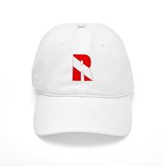 http://i3.cpcache.com/product/189266553/scuba_flag_letter_r_baseball_cap.jpg?color=White&height=240&width=240