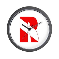 http://i3.cpcache.com/product/189266554/scuba_flag_letter_r_wall_clock.jpg?height=240&width=240