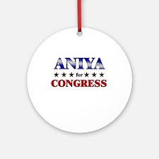 ANIYA for congress Ornament (Round)