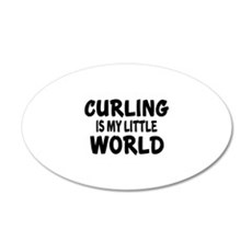 Curling Is My Little World Wall Decal