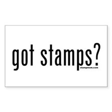 Got Stamps? Rectangle Decal