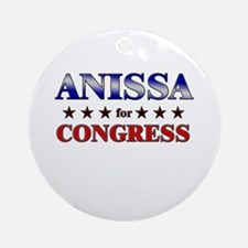 ANISSA for congress Ornament (Round)