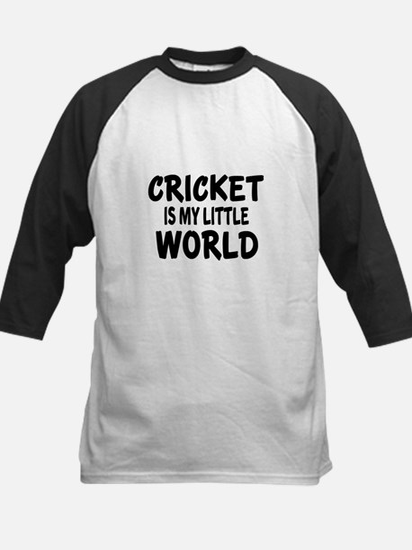 Cricket Is My Little World Kids Baseball Jersey