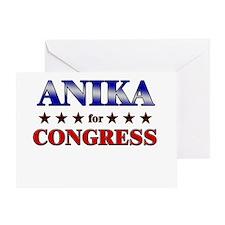 ANIKA for congress Greeting Card