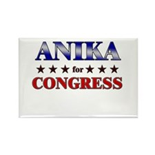 ANIKA for congress Rectangle Magnet