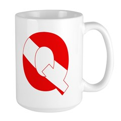 http://i3.cpcache.com/product/189268980/scuba_flag_letter_q_mug.jpg?height=240&width=240