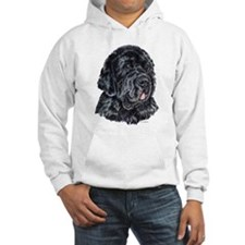 Newfoundland Dog Portrait Hoodie Sweatshirt