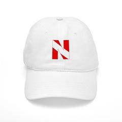 http://i3.cpcache.com/product/189272114/scuba_flag_letter_n_baseball_cap.jpg?color=White&height=240&width=240