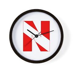 http://i3.cpcache.com/product/189272115/scuba_flag_letter_n_wall_clock.jpg?height=240&width=240