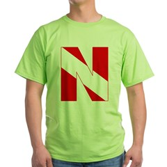 http://i3.cpcache.com/product/189272138/scuba_flag_letter_n_tshirt.jpg?color=Green&height=240&width=240