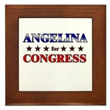 ANGELINA for congress Framed Tile