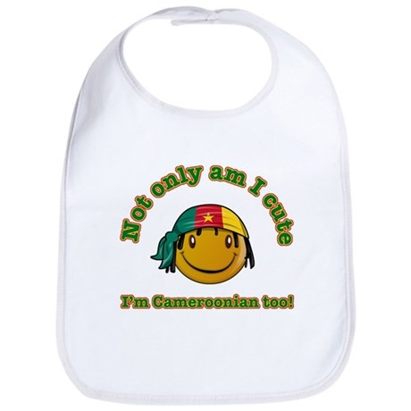 Not only am I Cute I'm Cameroonian too! Bib
