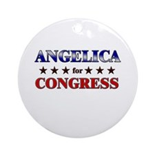 ANGELICA for congress Ornament (Round)