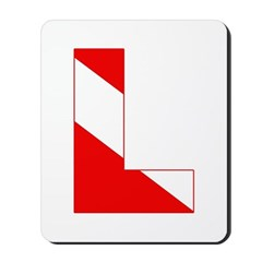 http://i3.cpcache.com/product/189274625/scuba_flag_letter_l_mousepad.jpg?height=240&width=240
