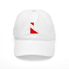http://i3.cpcache.com/product/189274629/scuba_flag_letter_l_baseball_cap.jpg?color=White&height=240&width=240