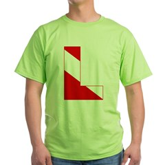 http://i3.cpcache.com/product/189274665/scuba_flag_letter_l_tshirt.jpg?color=Green&height=240&width=240