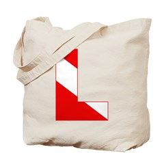 http://i3.cpcache.com/product/189274680/scuba_flag_letter_l_tote_bag.jpg?height=240&width=240