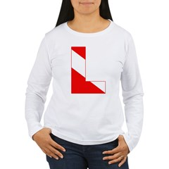 http://i3.cpcache.com/product/189274714/scuba_flag_letter_l_tshirt.jpg?color=White&height=240&width=240