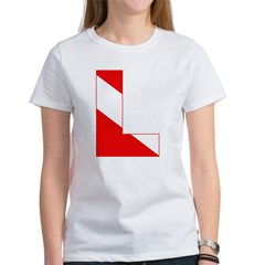 http://i3.cpcache.com/product/189274735/scuba_flag_letter_l_womens_tshirt.jpg?color=White&height=240&width=240