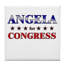 ANGELA for congress Tile Coaster