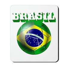 Brazil Brasil Football Mousepad